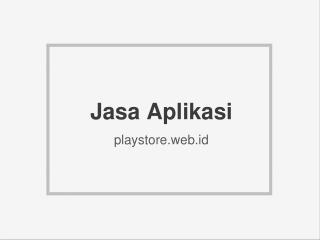 Jasa Aplikasi