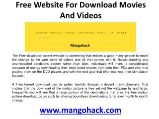 Free webiste for download movies and videos