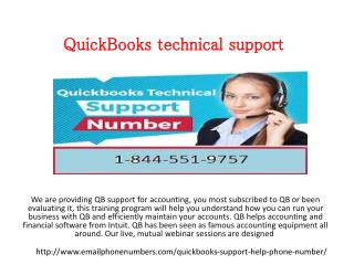 QuickBooks contact Number 1-844-551-9757 Technical Support