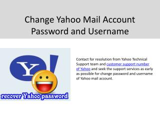 Easily  and comfortably change yahoo account password
