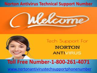 Norton Antivirus Technical Support Number-1-800-261-4071