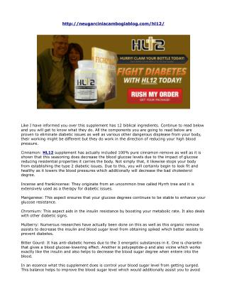HL12 Reviews- Which Active Ingredients Help to Control Blood Sugar Level?