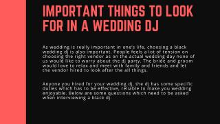 Important Things to Look for in a Wedding DJ