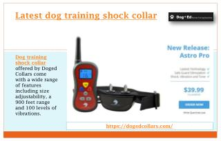 Latest dog training shock collar