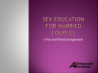 Sex education for married couples