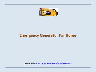 Cat RP5500-Emergency Generator For Home