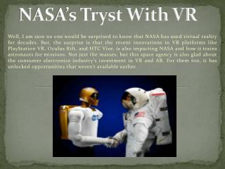 NASA's Tryst With VR