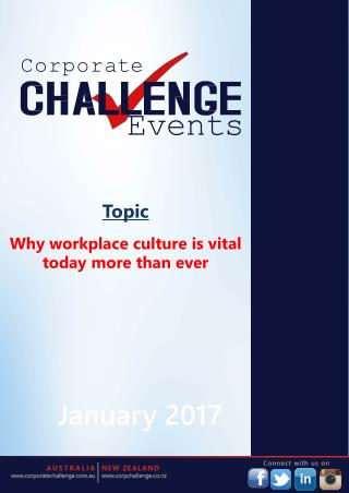 Why workplace culture is vital today more than ever