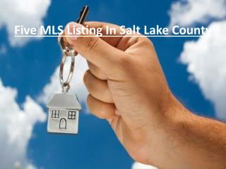 MLS Listing In Salt Lake County