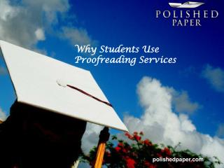Why students use proofreading services