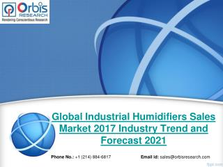 2017 Global Industrial Humidifiers Sales Market Trends Survey & Opportunities Report