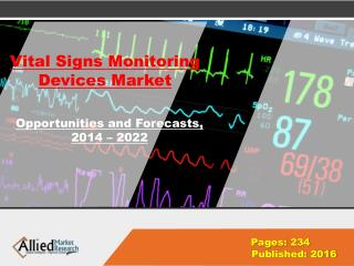 Vital Signs Monitoring Devices Market Growth & Demand 2022