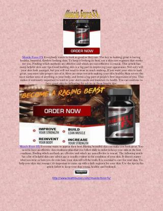 Muscle Force FX Prevent dry skin