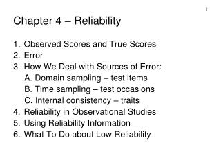 Chapter 4   Reliability