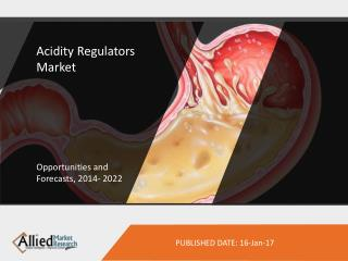 Acidity Regulators Market to Reach $7,056 Million, Globally, by 2022