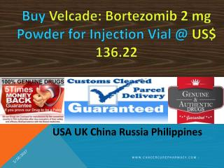 Buy Bortezomib 2 mg Powder for Injection Vial Brand  Velcade @ US$ 136.22