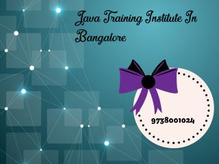 advanced java training institute in bangalore