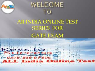 Test Series For Gate