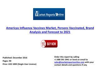 2021 Americas Influenza Vaccines Market Forecast & Brand Analysis