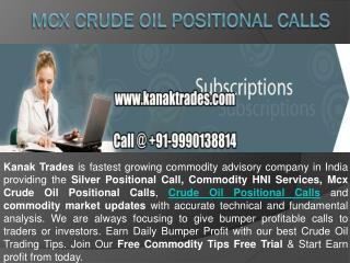 Mcx Crude Oil Positional Calls