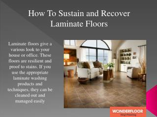 Laminate Flooring - An Outstanding Option, But Know Your Models