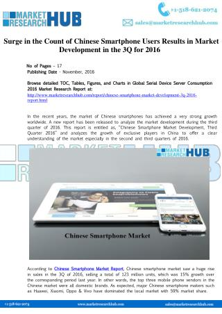 Chinese Smartphone Market Development and Research Report