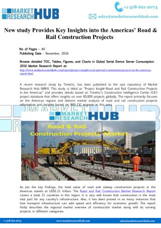 America's Road & Rail Construction Projects Market Report