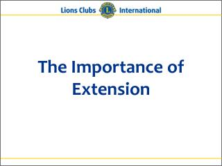 The Importance of Extension