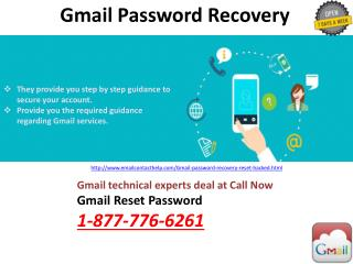 Gmail Password Recovery @1-877-776-6261: A 3 Step Solution