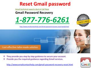 Get Fastest Reset Gmail password At @1-877-776-6261 number.