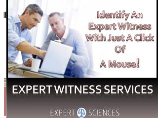 Identify An Expert Witness With Just A Click Of A Mouse!