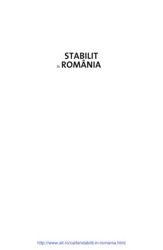 Nigel Shakespear PDF Online STABILIT ÎN ROMÂNIA