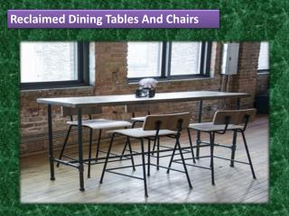 Reclaimed Dining Tables And Chairs