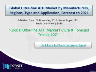 Global Ultra-fine ATH Market by Types ,Forecasts To 2021