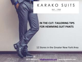 In the Cut:  Tailoring Tips for Hemming Suit Pants