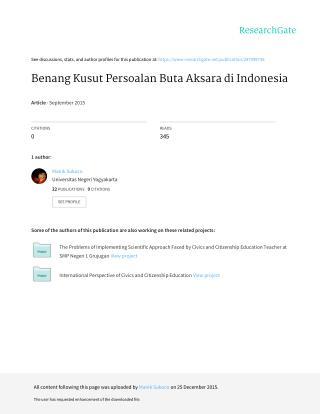 Benang Kusut Persoalan Buta Aksara di Indonesia