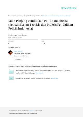 Jalan Panjang Pendidikan Politik Indonesia (Sebuah Kajian Teoritis dan Praktis Pendidikan Politik Indonesia)