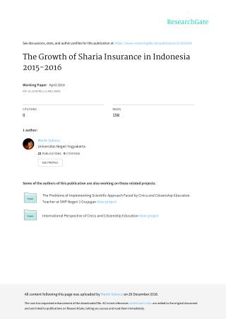 The Growth of Sharia Insurance in Indonesia 2015-2016