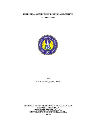 Perkembangan Konsep Demokrasi dan Hak Asasi Manusia di Indonesia
