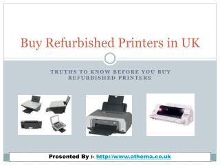 Keep in Mind Before You Buy Refurbished Printers