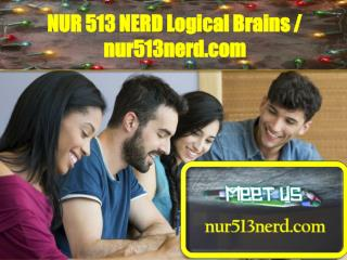 NUR 513 NERD Logical Brains / nur513nerd.com