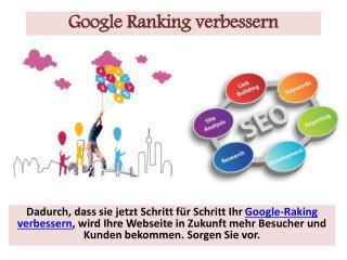 Google Ranking verbessern – kümmern Sie sich jetzt um Ihre Zukunft