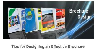 Tips for designing an Effective Brochure