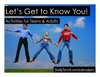 10  Getting to Know You Activities for Teens & Adults