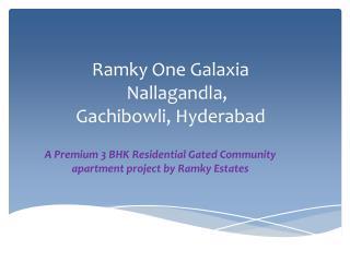 3BHK Premium Flats Near Gachibowli,Nallagandla