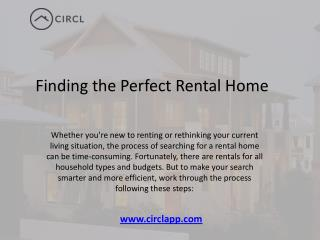 Finding the Perfect Rental Home in Toronto