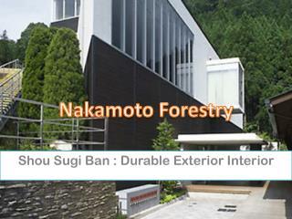 Shou Sugi Ban : Durable Exterior Interior