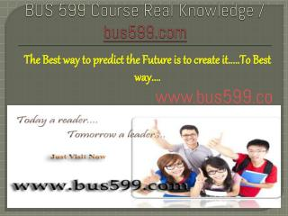 BUS 599 Course Real Knowledge / bus 599 dotcom