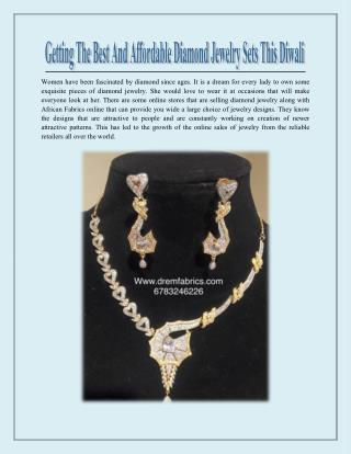 Top 5 diamond Jewelry Sets under 100$ to sparkle this Diwali