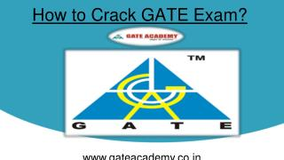How to Crack GATE Exam?